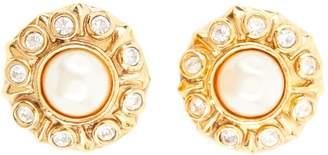 Chanel Vintage Gold Metal Earrings