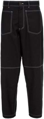 Comme des Garcons Loose-fit wool-blend trousers