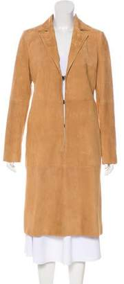 Alice + Olivia Suede Knee-Length Coat