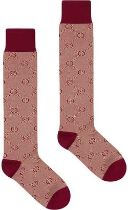 Gucci Cotton socks with GG pattern