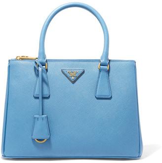 Prada - Galleria Medium Textured-leather Tote - Blue $2,230 thestylecure.com