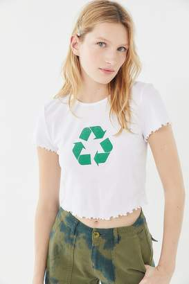 Truly Madly Deeply Recycle Lettuce-Edge Cropped Tee