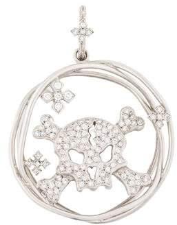 Loree Rodkin 18K Diamond Skull & Bones Pendant