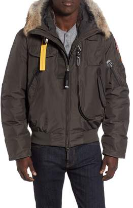 Parajumpers Gobi 700 Fill Power Down Bomber Jacket with Genuine Coyote Fur Trim