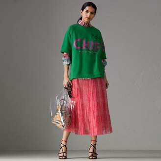 Burberry Fish and Chips Print Cotton Sweatshirt