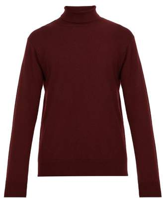Dunhill Roll Neck Cashmere Sweater - Mens - Burgundy