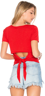 Autumn Cashmere Tie Back Sweater in Red $253 thestylecure.com