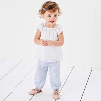 The White Company Embroidered Blouse & Trouser Set
