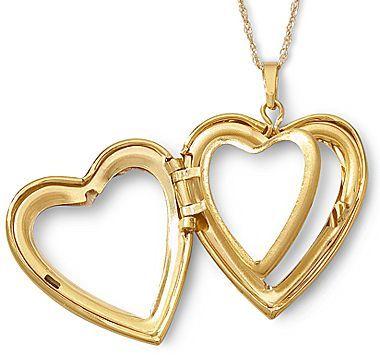 JCPenney Gold Locket, 4 Frame Heart 10K
