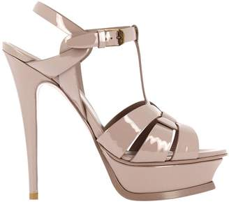 Saint Laurent Heeled Sandals Tribute Sandal Classic In Patent Leather With Stiletto Heel