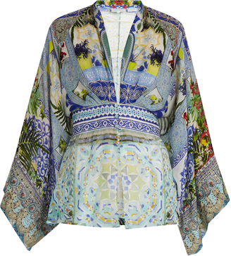 CAMILLA My Majorelle-print silk-chiffon blouse $430 thestylecure.com
