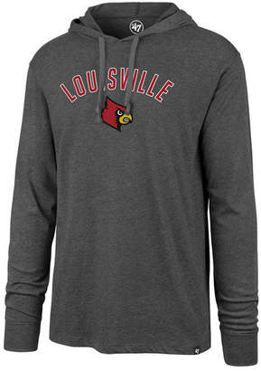 '47 Men's Louisville Cardinals Long Sleeve Focus Hooded T-Shirt
