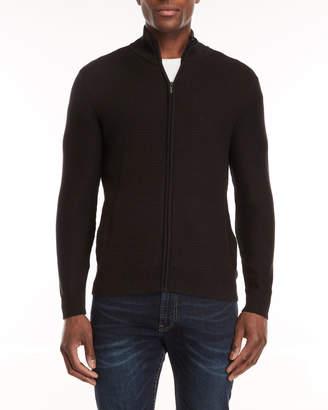 Calvin Klein Textured Full-Zip Sweater