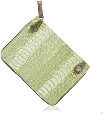 Okapi Pouch / Forest Green Gloss Linden Green Ostrich Shin