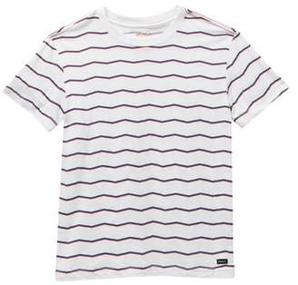 RVCA VA Stripe Short Sleeve Shirt (Big Boys)