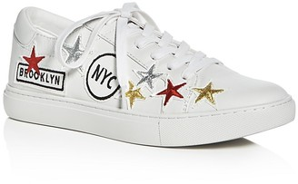 Kenneth Cole Kam NYC Embellished Lace Up Sneakers $140 thestylecure.com