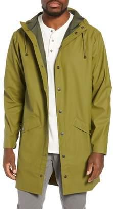 Rains Waterproof Hooded Long Rain Jacket