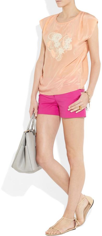 Vanessa Bruno Silk crepe de chine and cotton top