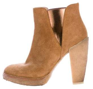 Belle by Sigerson Morrison Suede Round-Toe Ankle Boots