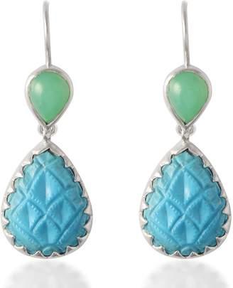 Emma Chapman Jewels - Aztec Chrysoprase Turquoise Earrings
