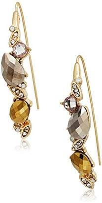 lonna & lilly Gold Tone Stone Threader Drop Earrings