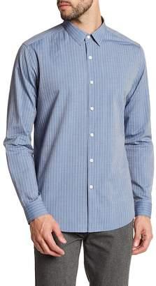 Theory Stripe Chambray Regular Fit Shirt