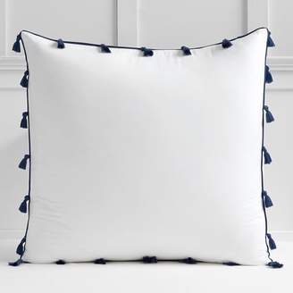 Pottery Barn Teen Tassel Euro Sham, Royal Navy