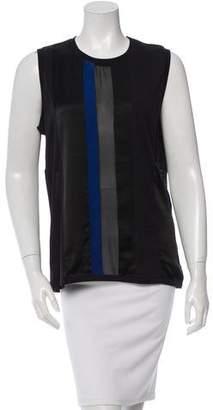 Barbara Bui Colorblock Silk-Blend Top w/ Tags