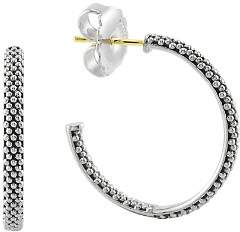 Lagos Sterling Silver Signature Caviar Hoop Earrings