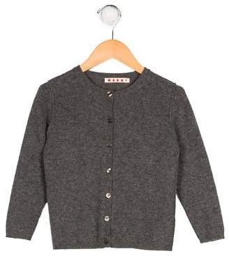 Marni Girls' Cashmere Button-Up Cardigan