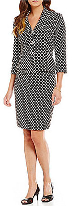 Albert Nipon Polka-Dot Skirt Suit $275 thestylecure.com