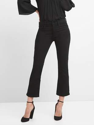Gap High Rise Crop Flare Jeans in Everblack