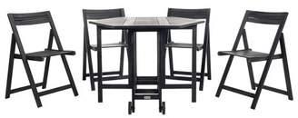 Safavieh Kerman 5pc Outdoor Dining Set - Black