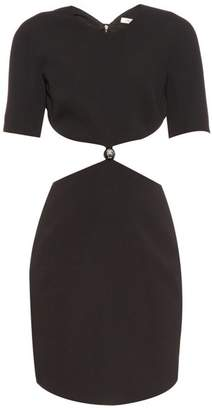 Thierry Mugler Cut Out Cady Dress - Womens - Black