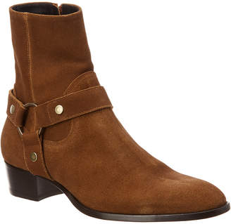 Saint Laurent Classic Wyatt Suede Boot 2e6a26703189