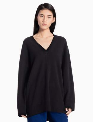 Calvin Klein wool knit oversized v-neck sweater