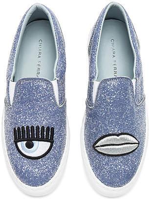 Chiara Ferragni Glitter Slip On Sneaker