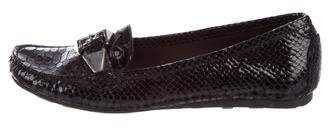 Stuart Weitzman Patent Leather Embossed Loafers