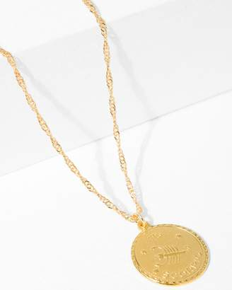 7 For All Mankind CAM Scorpio Necklace in Gold
