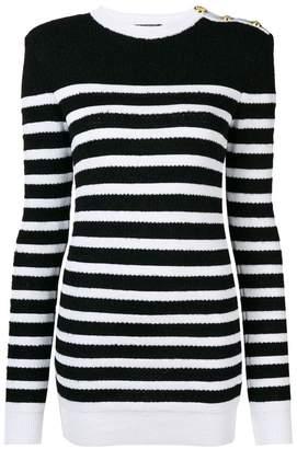 Balmain structured shoulder jumper