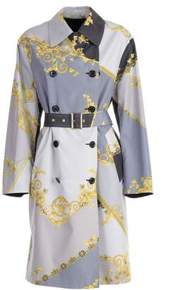 Versace Signature Printed Trench