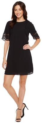 Vince Camuto Short Sleeve Embroidered Shift Dress Women's Dress