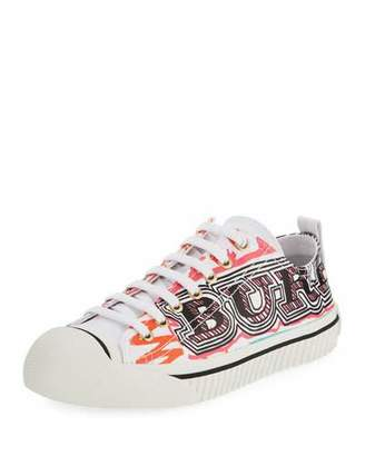 Burberry Kingly Marker-Print Low-Top Sneaker
