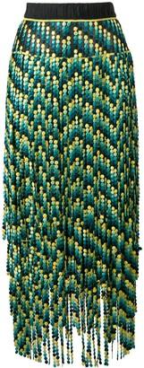 Marco De Vincenzo paneled embroidered bead skirt