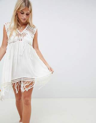 Somedays Lovin Rivers And Dunes Crochet Beach Dress