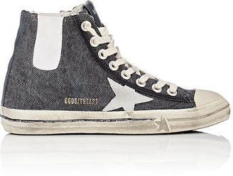 Golden Goose Women's Women's V-Star 1 Canvas High-Top Sneakers $595 thestylecure.com