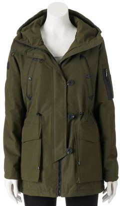 Juniors' Madden Girl Hooded Anorak Utility Jacket $100 thestylecure.com