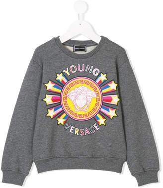 Versace logo star burst print sweatshirt