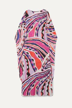 Emilio Pucci Printed Voile Kaftan - Pink