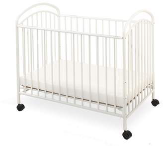 L.A. Baby Classic Arched Compact Size Metal Non-Folding Crib